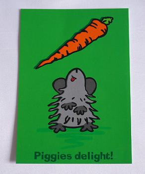 "Postkarte ""Piggies delight!"""